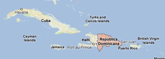 Den dominikanske republikk og Haiti, eller Quisqueya, om du vil.